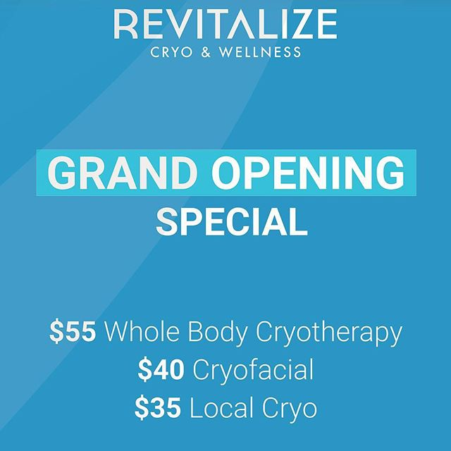 GRAND OPENING SPECIAL! Special pricing ends next week... Book your appointment now and be on your way to the best version of yourself! ❄️ ❄️ ❄️ #cryotherapy #cryofacial #infraredsauna #localcryotherapy #bergencounty #fortlee #edgewater #health #wellness