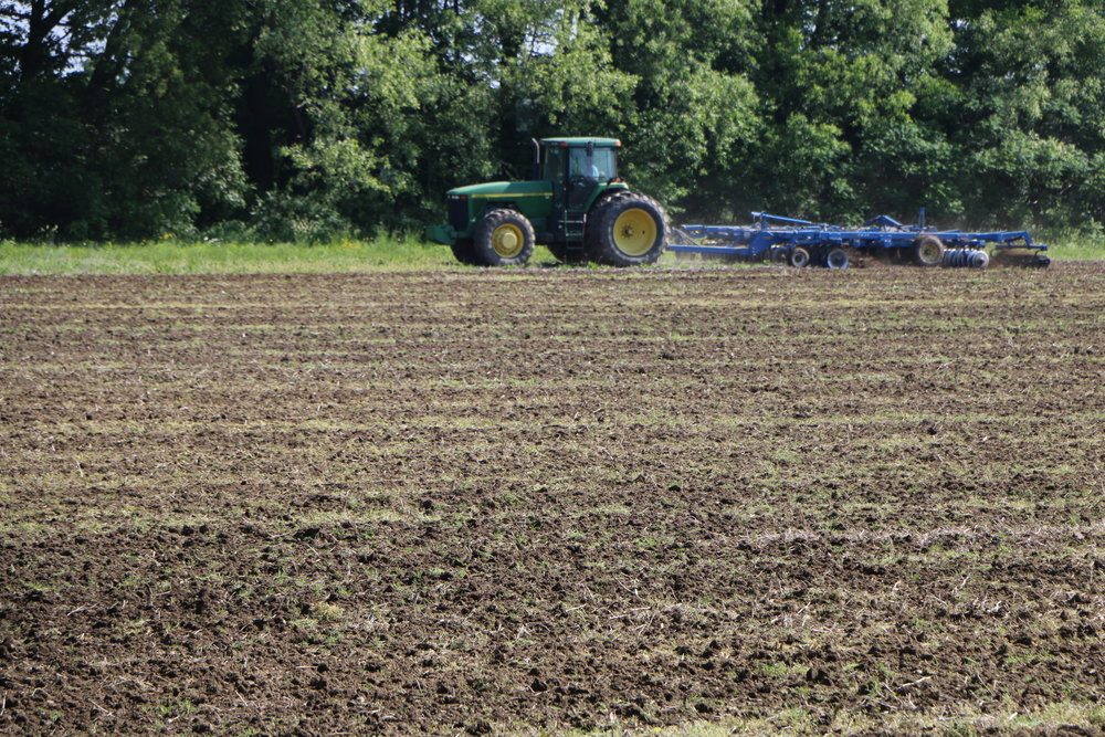 Tilling the soil -