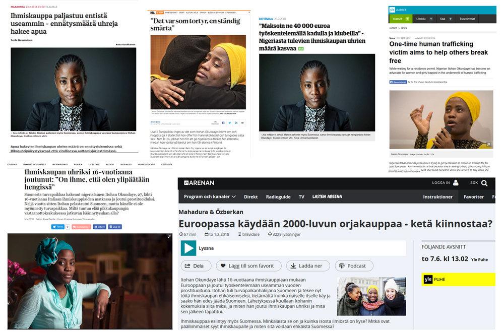 Toisenlaisia tarinoita -kampanja on uutisoitu kevään mittaan lukuisissa medioissa.