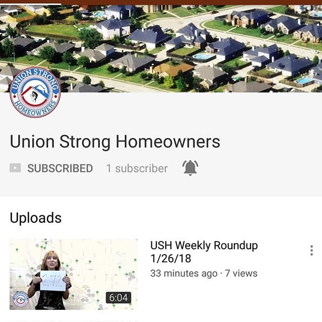 Weekly round up at Union Strong Homeowners click the link in the comments and subscribe