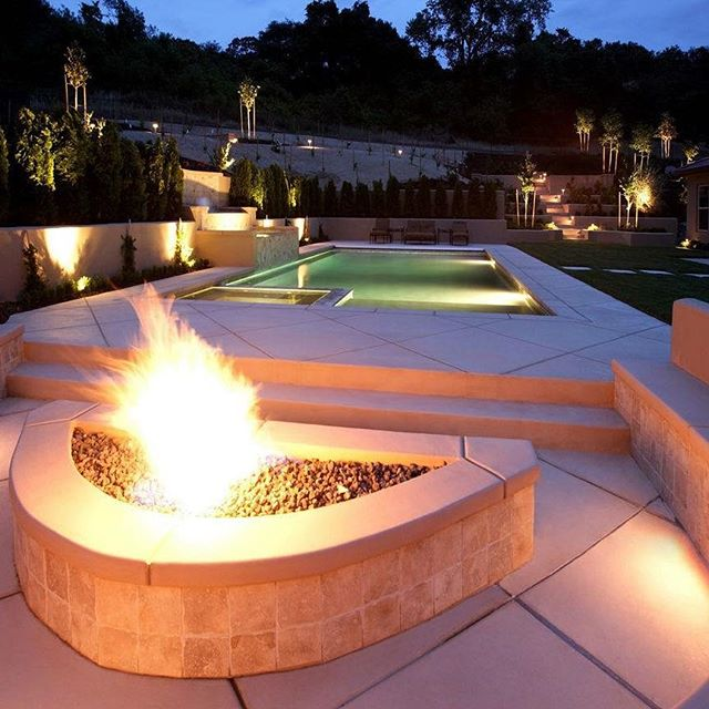 This is an unbelievable pool and backyard! Can you still roast marshmallows on a fire like this?