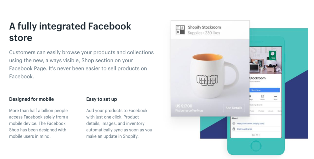 shopify integrated into facebook