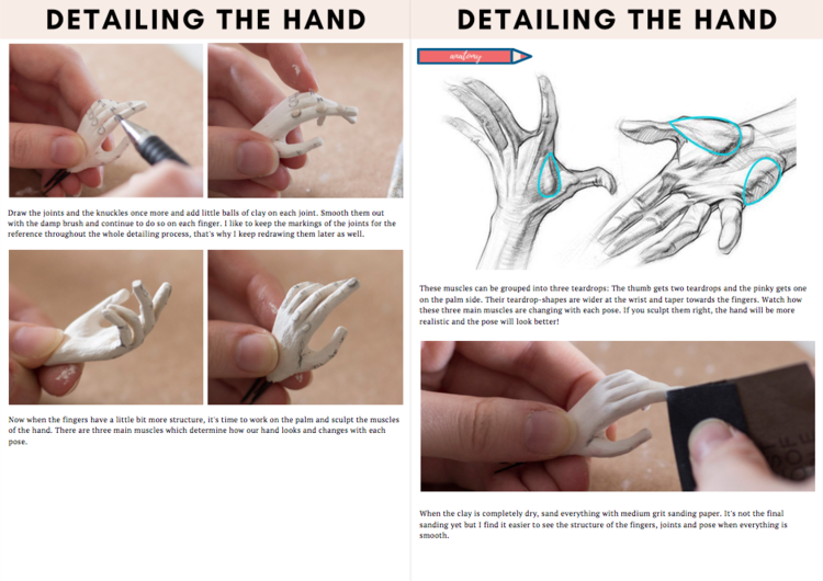 hand sculpting tutorial