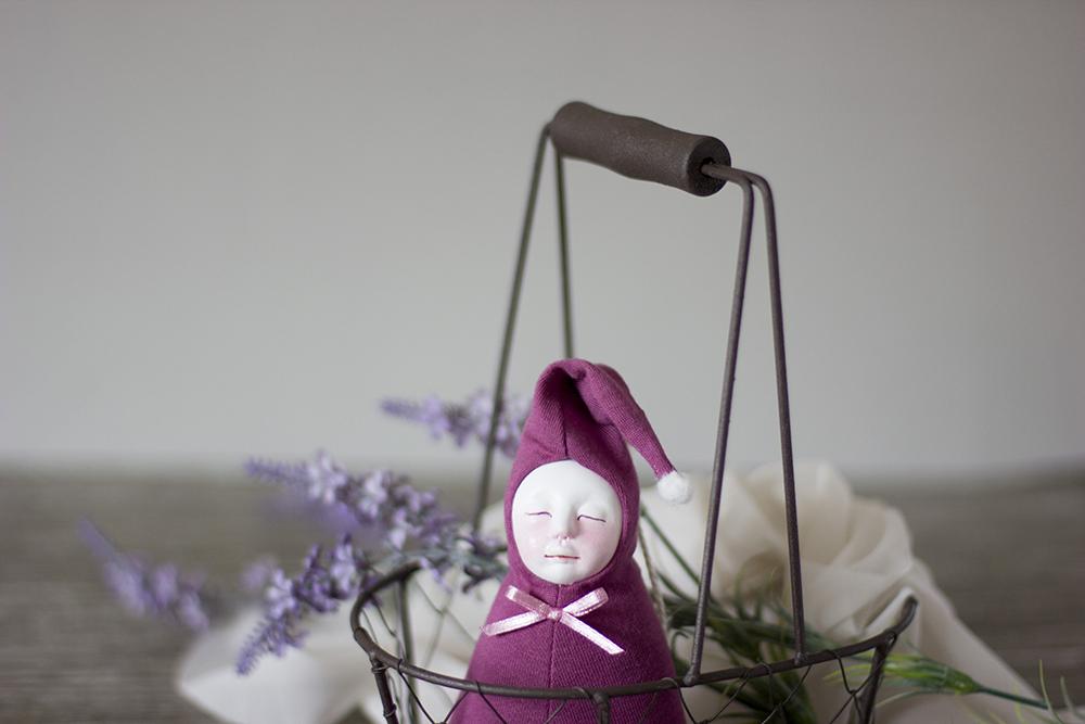 Lavender plush doll adelepo