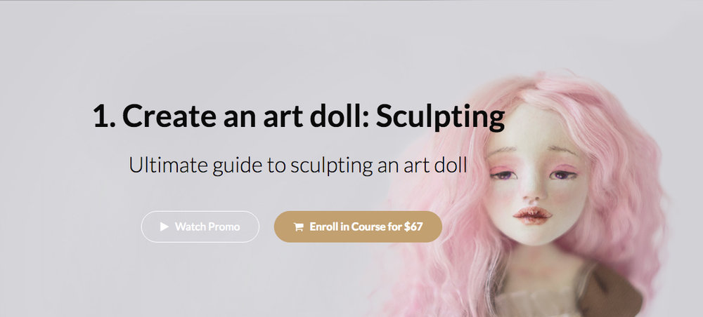 Doll making classes by Adele Po.