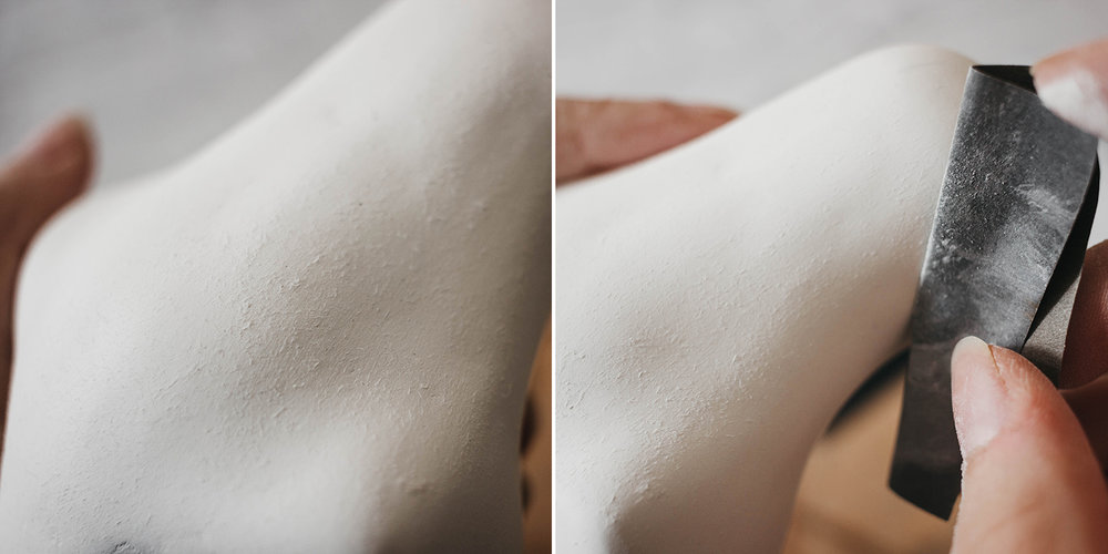 Air-dry clay fibres and fluff