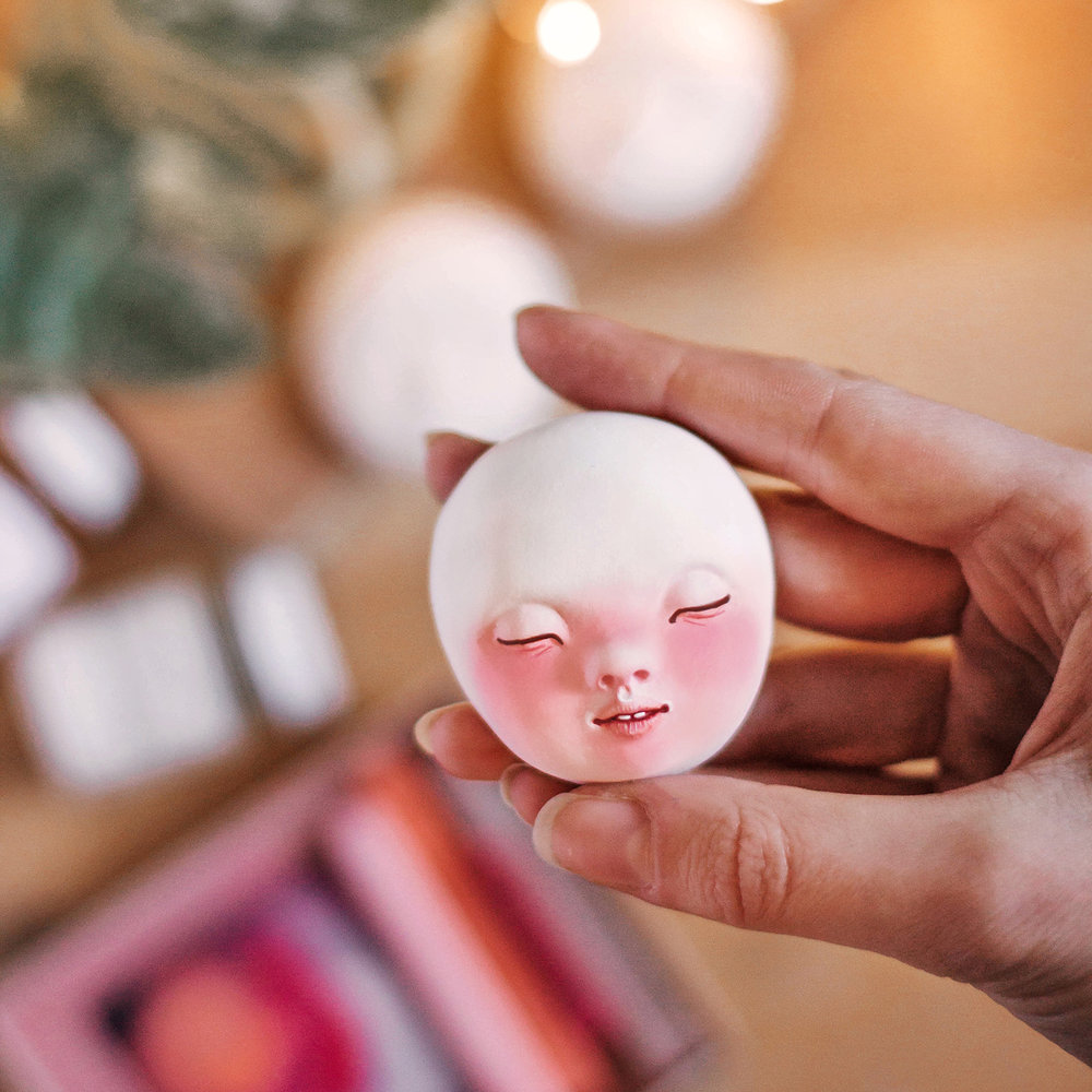 Sleeping face sculpting tutorial by adelepo
