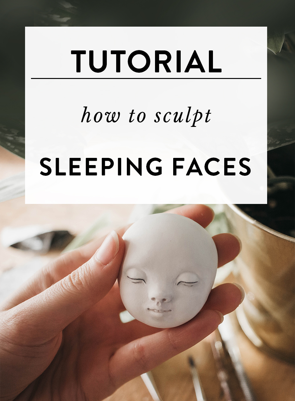 How to sculpt sleeping faces. Art doll sculpting tutorial by Adele Po.