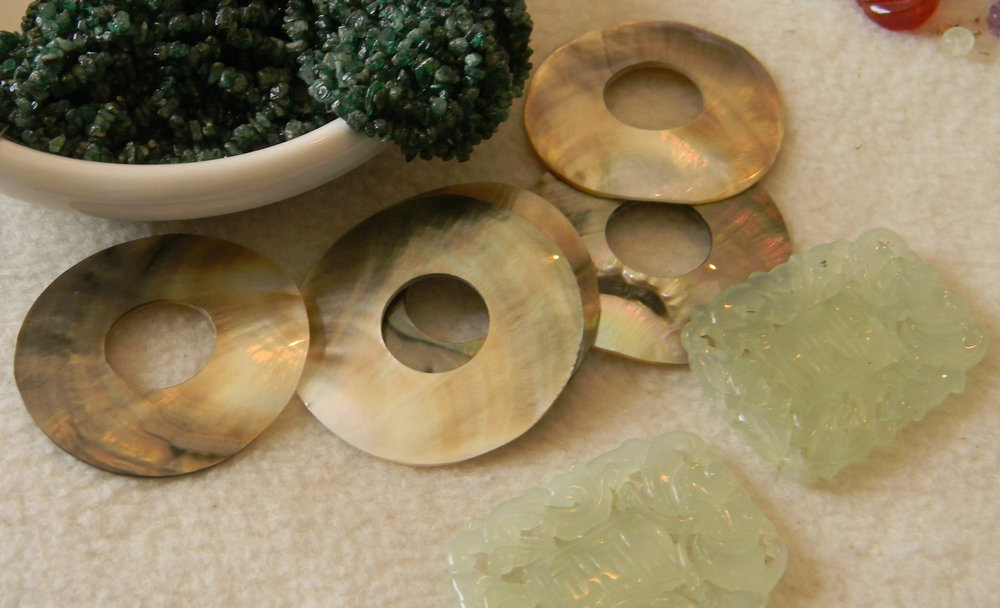 Abalone, Jade & Emerald Chips