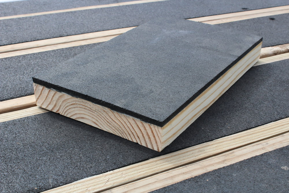 Blackwood Pro offers the superior traction of rubber across the entire surface of the board.