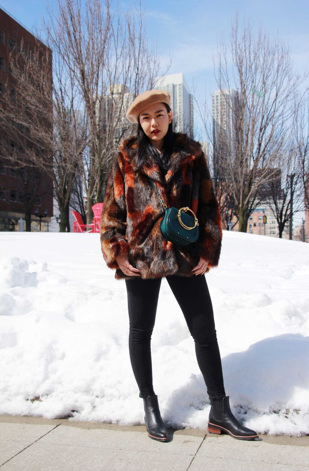 Faux Fur Coat Outfit