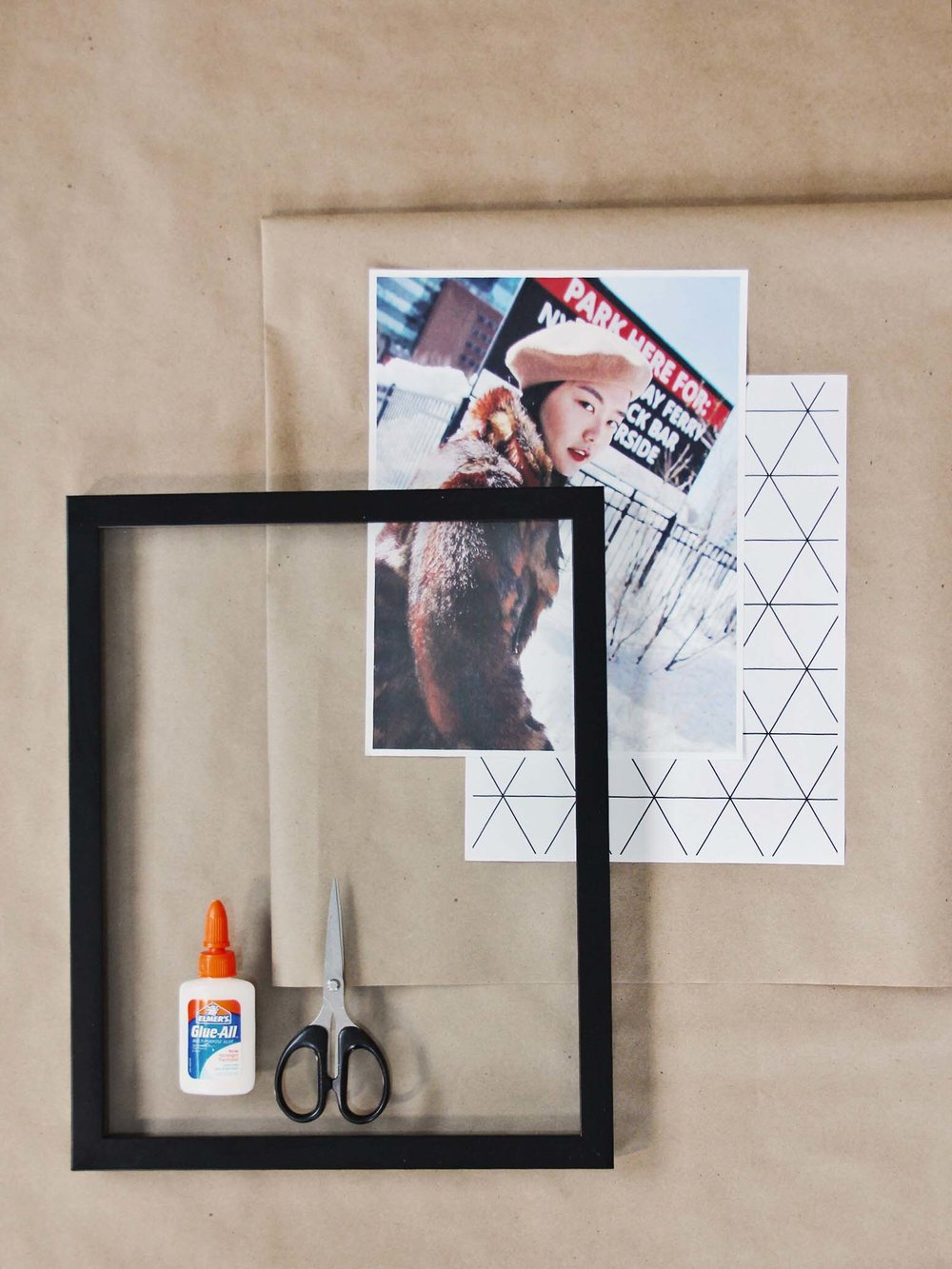 Geometric photo art diy