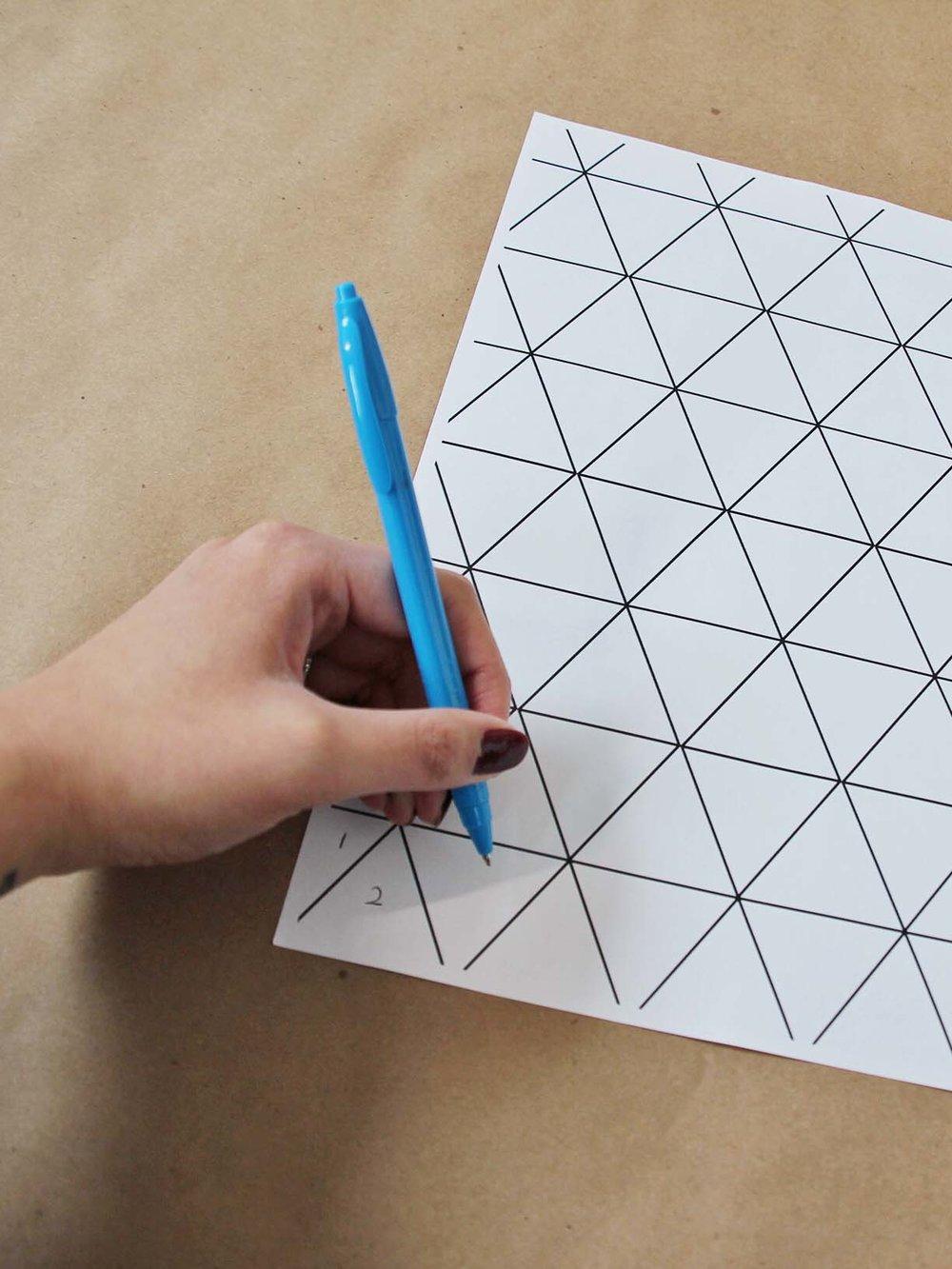 Geometric photo art diy
