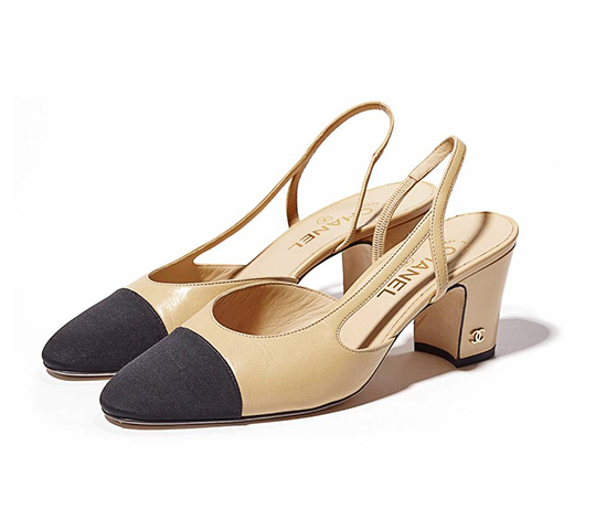 7915cb27fe6 Designer Shoes And Their Dupes  2 CHANEL Cap Toe Slingback — Cafe ...