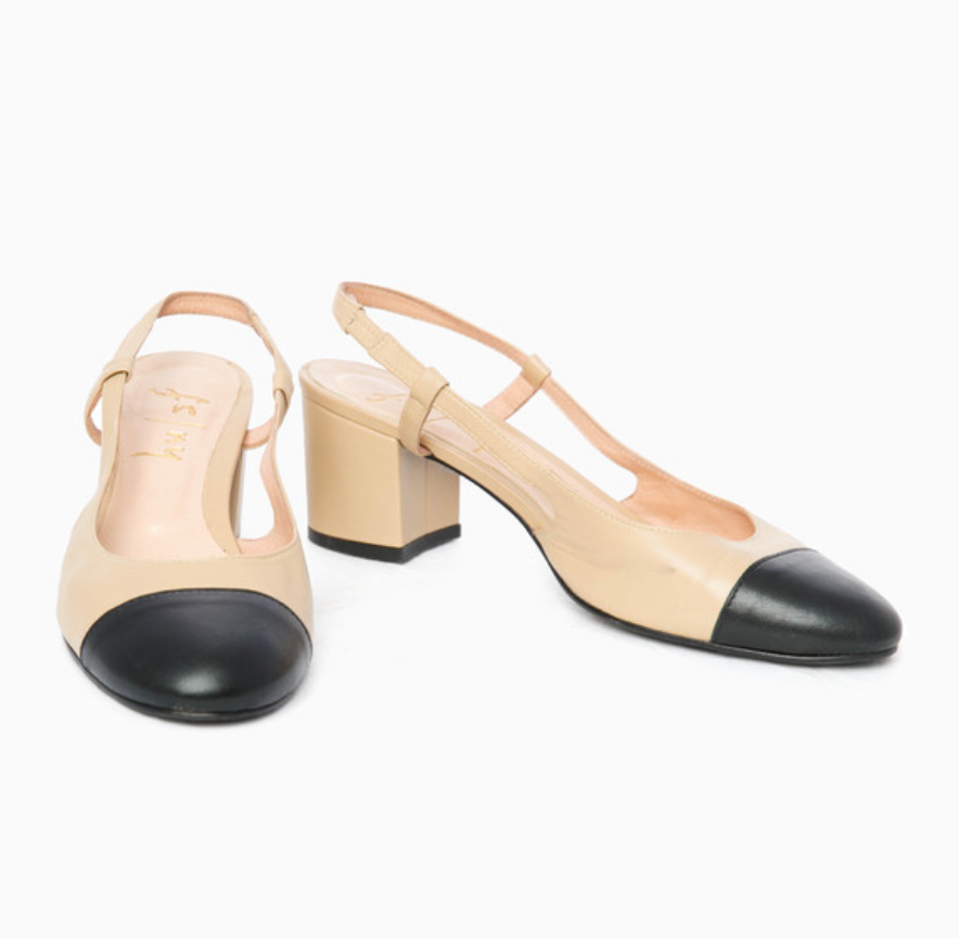7baa4f6d91 Designer Shoes And Their Dupes #2 CHANEL Cap Toe Slingback — Cafe ...