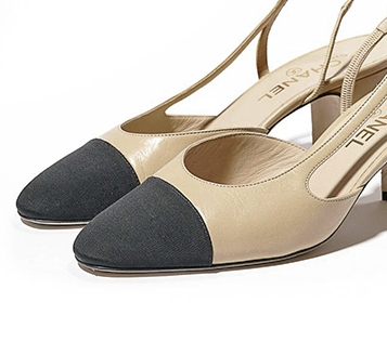 62d80c11306 Designer Shoes And Their Dupes  2 CHANEL Cap Toe Slingback — Cafe ...