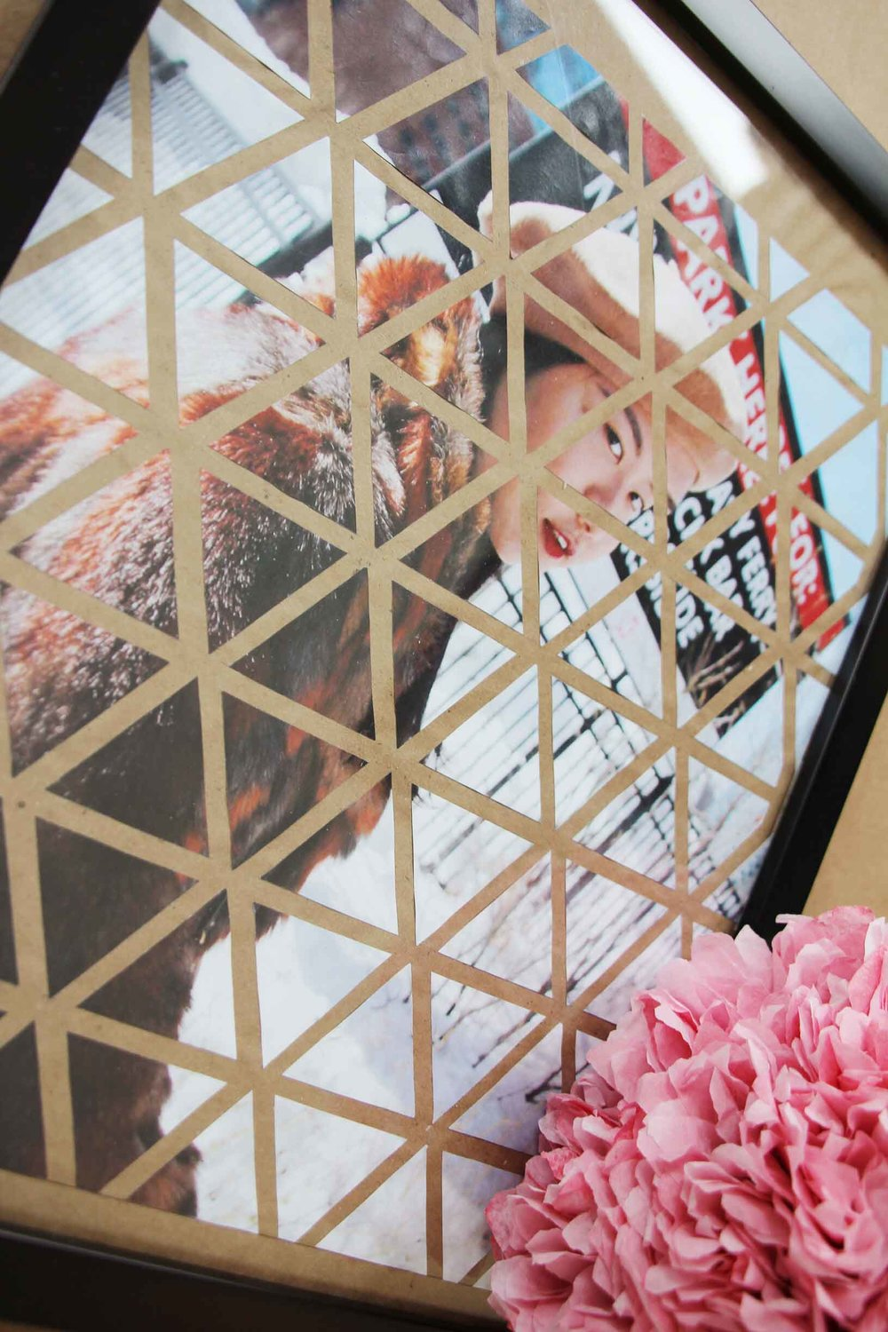 DIY Geometric Photo Art