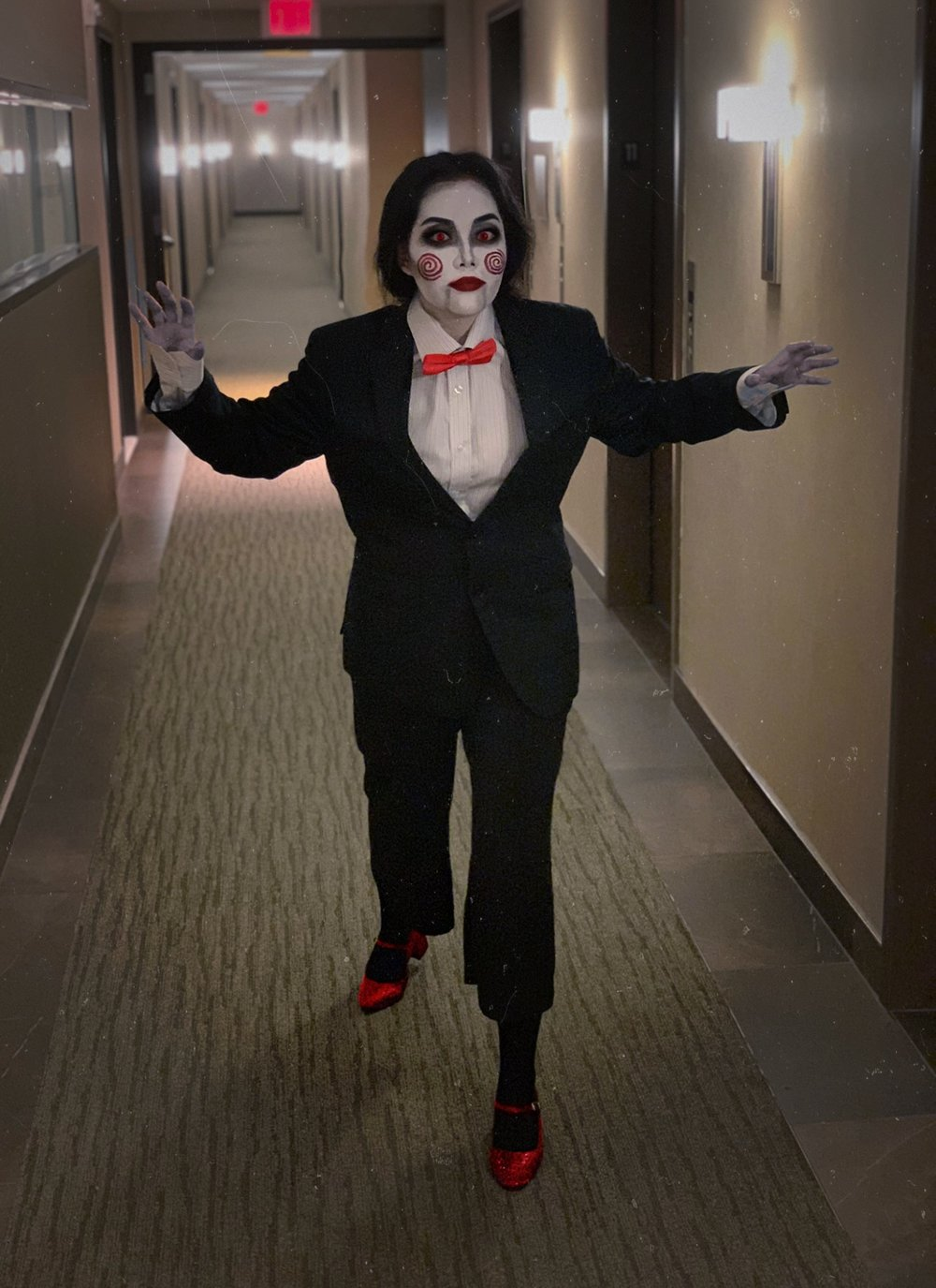 Quick & Easy Halloween Costume Idea - Billy The Puppet Two Ways