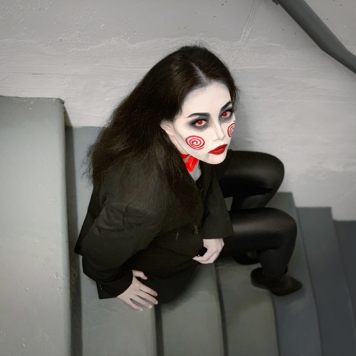 Quick Easy Halloween Costume Idea Billy The Puppet Two Ways Cafe Carrie Fashion Lifestyle Blog