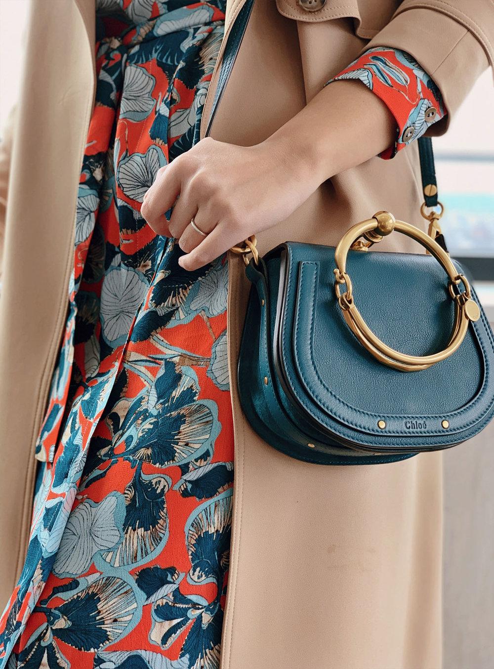 Style Midi Dress For Early Spring - Chloe Nile Bag