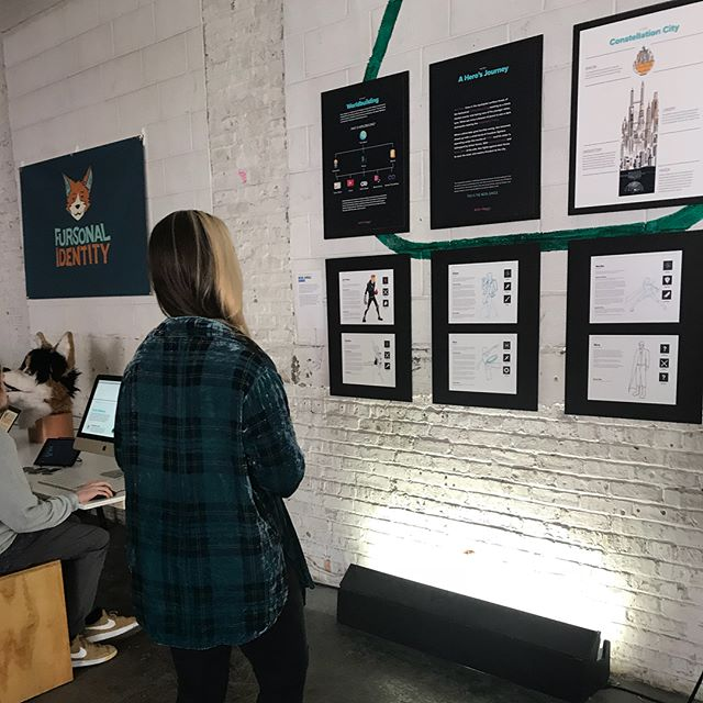 The show was an amazing success! Thank you to everyone who came out and supported the @depaulu DCMA and graphic design programs! Thank you @lostarts for hosting us. It was so awesome to share #neonjunglecomic with all of you. More at www.neonjungle.online - - #artshow #thesis #graduatethesis #digitalmedia #mediaarts #worldbuilding #characterdesign #videogame #comicbook #comicart #lgbtq #queerheroes #queercharacters #inclusive