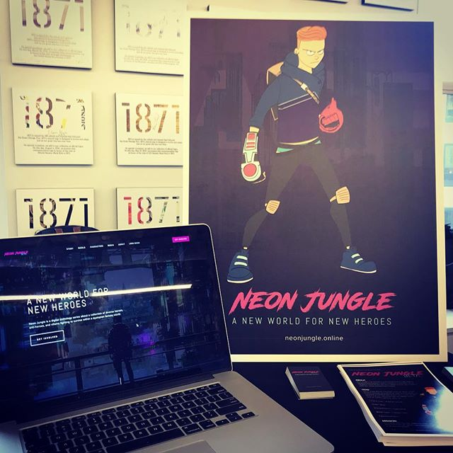 Had so much fun representing @coleman_center at the Final Four Business Pitch! Thank you so much @1871chicago for having us and creating a platform to introduce some new people to the world of #neonjunglecomic!  Taking a short break this August and then will be back at it this Fall to solidify some new ideas and refined direction. The wild ride will resume this September. Stay tuned!  #neonjungle #indiecomics #scifi #fantasy #cyberpunk #lgbtq #queerheroes #magic #worldbuilding #originalcharacter #originalstory #animatedseries #illustration #characterdesign #videogame #indiegame #startup #artsandentertainment