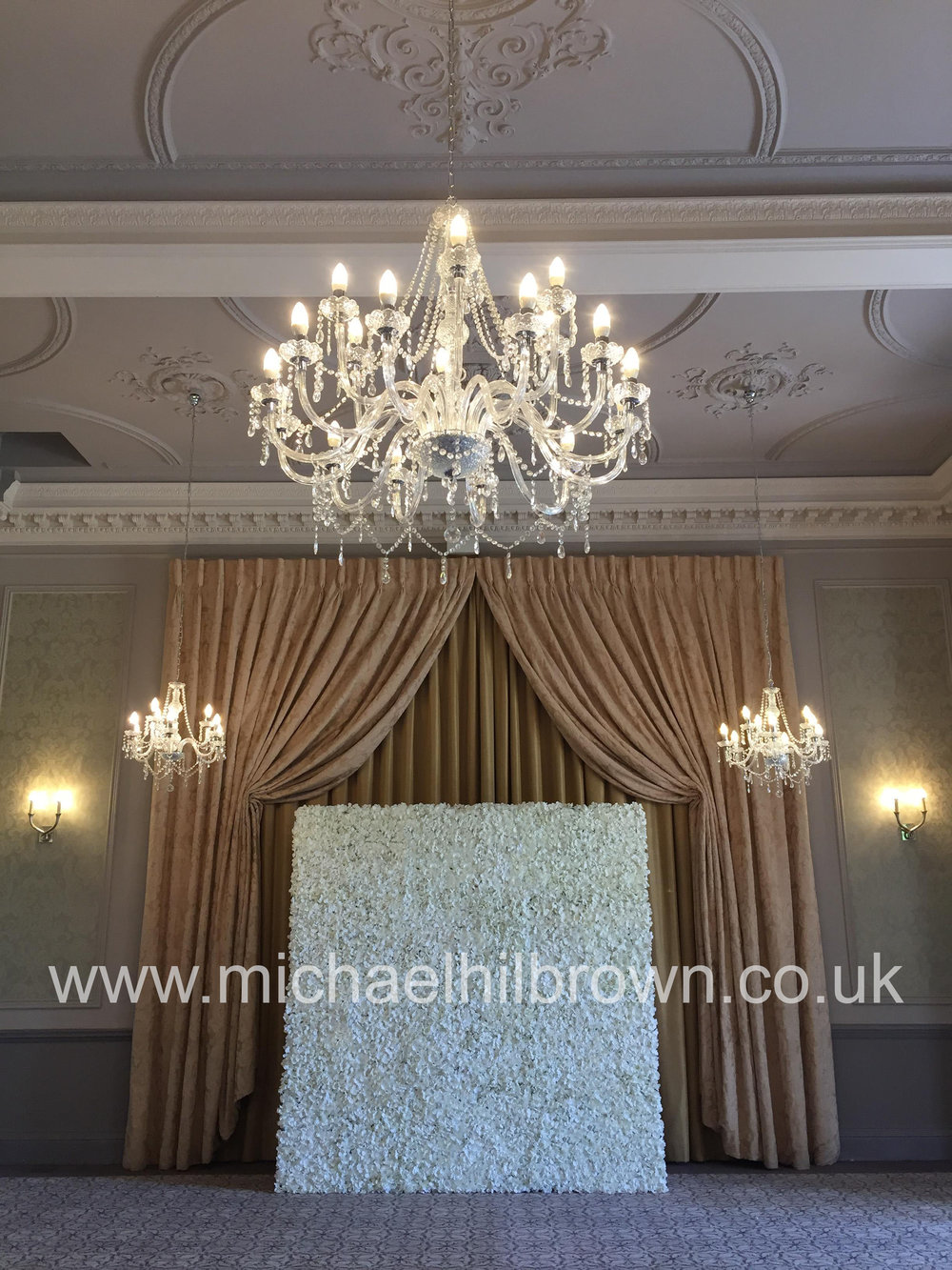 Essex Artificial Flower Wall Hire - Essex Wedding Florist