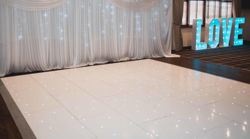 LED WHITE DANCE FLOOR HIRE
