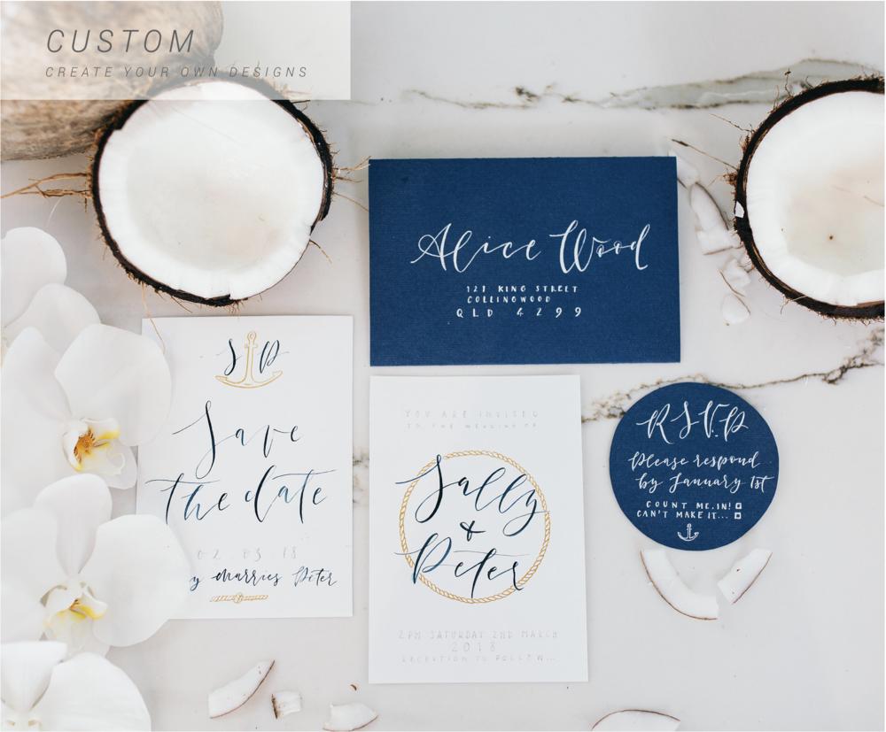 CUSTOM INVITATION SUITES – Design your own