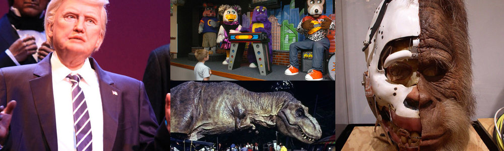 Contemporary examples of how animatronics are put to use.