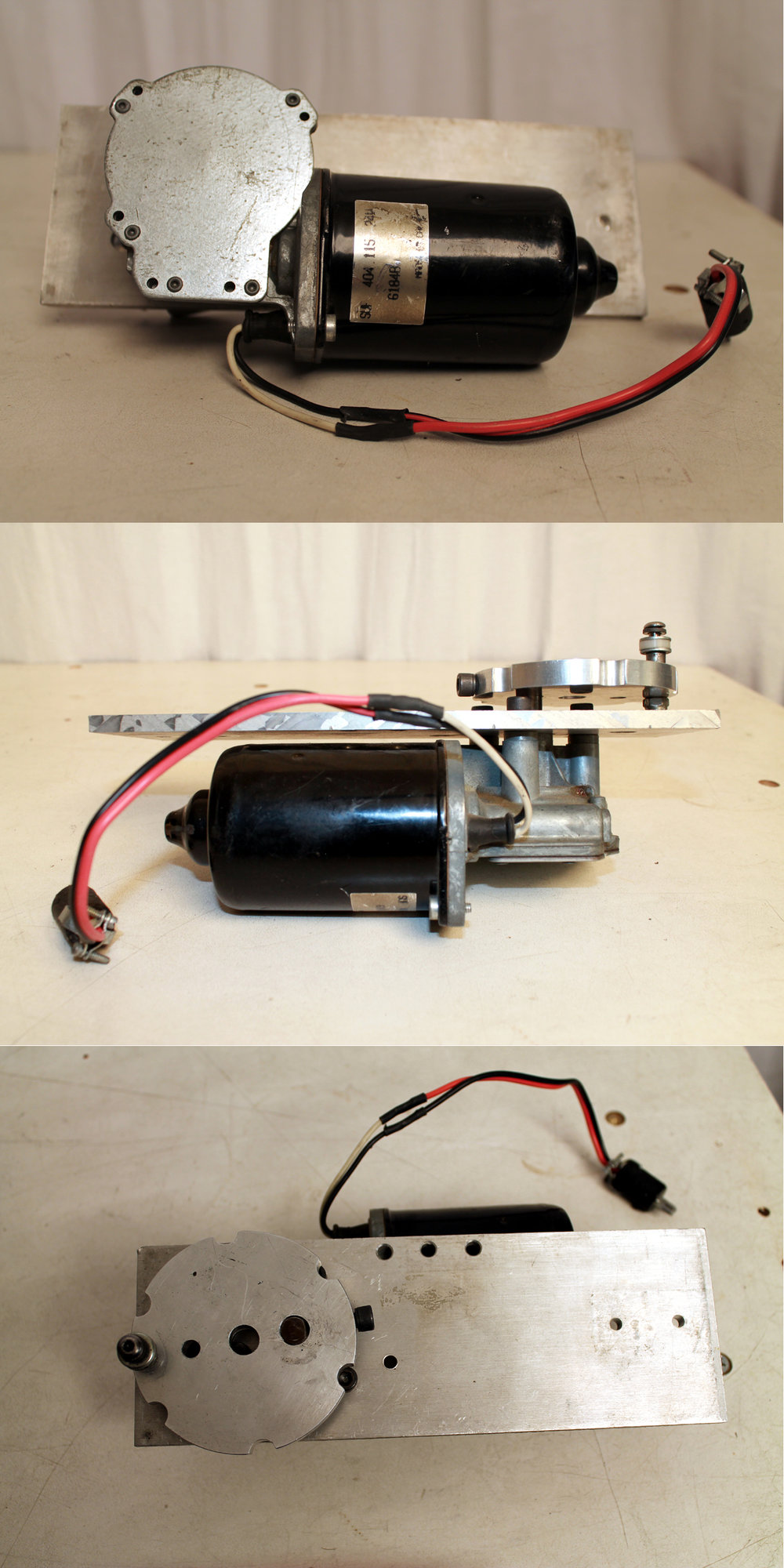 Motor, Mounting Plate, and crank