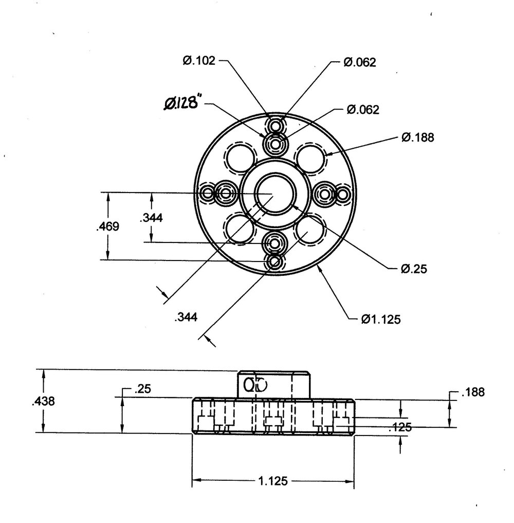 Aluminum Termination Disc Drawing