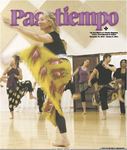 Elise Smith Gent on the cover of the Pasatiempo 12.31.10
