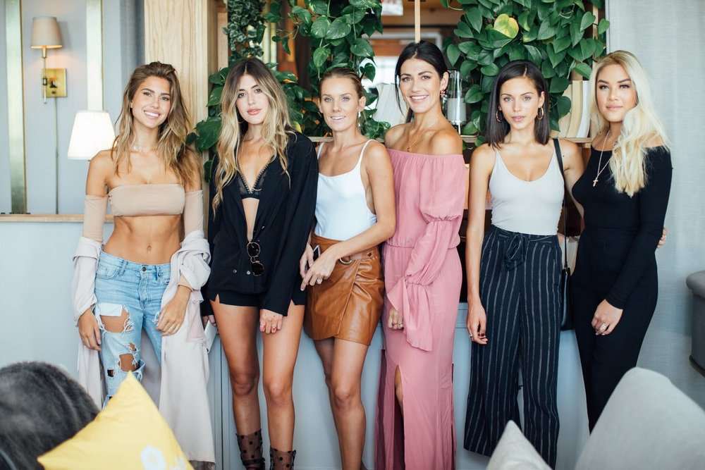 From Left to Right:   Kara Del Toro ,  Hanna Montazami ,  Sky Naite ,  Sara Montazami ,  Alyssa Lynch ,  Jamie Charoen