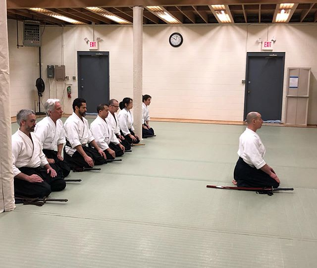 Thank you to our guess instructor, Matt May Sensei, for a great #Iaido class! Hope to have you back sometime soon!