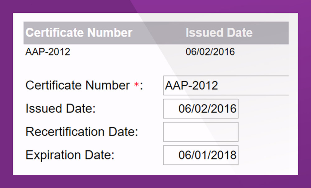 - Track to submission of annual AAP Plans.  Leverage customizable workflows to perform intake, review, analysis, and adjudication process. Annotate and certify contractors' AAP and store the plan in PRiSM's data warehouse for instant retrieval and review. Assign and track AAP certification and expiration dates.