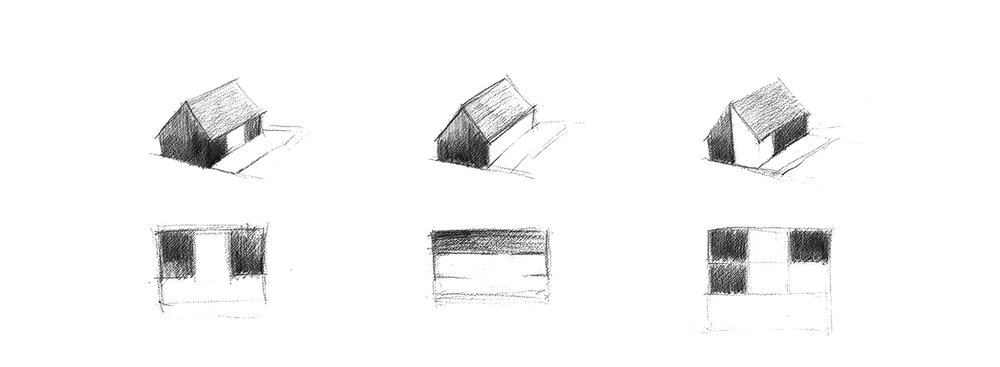 Concept sketch of net-zero house