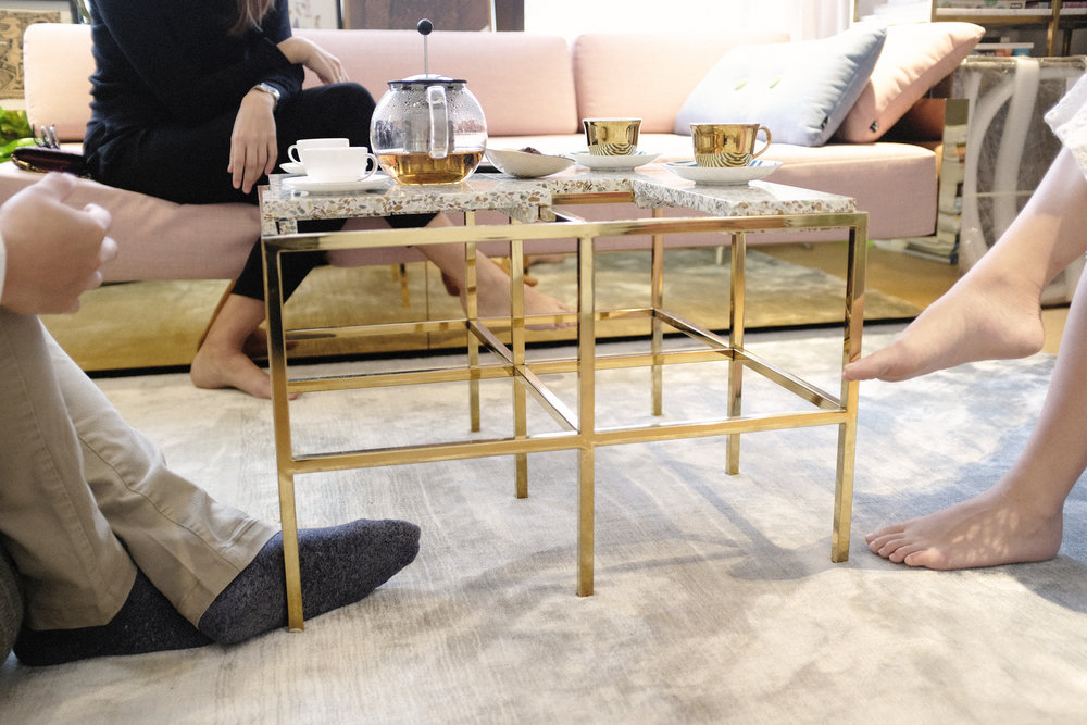 Frame Table  and  Mass Series Sofa  by Lim + Lu