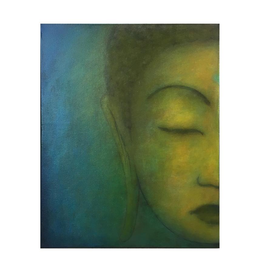 "Buddha series, 2  16"" x 20"" acrylic on lightweight canvas ©Karen Zilly  SOLD"