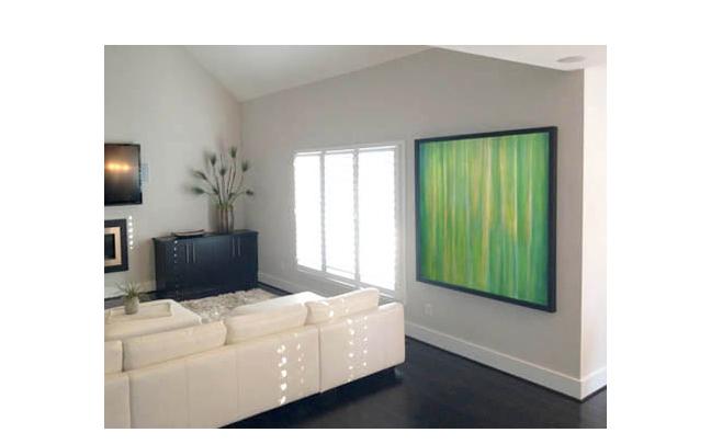 Custom painting inspired by 'Suddha'  Residence in Virginia Beach, VA.  ©KarenZilly