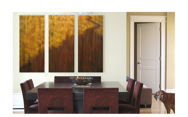 To See One's Way  Custom triptych created in New York City, NY.  ©KarenZilly