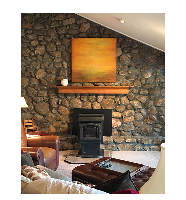 Custom abstract landscape  Residence in Connecticut.  ©KarenZilly