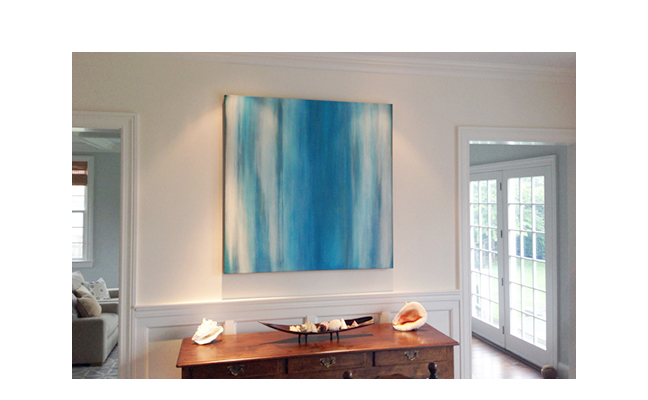 Custom painting, Prema series  Residence in New York.  ©KarenZilly