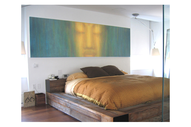 Custom Buddha for client in NYC.    approx 11ft wide / acrylic on hand-built canvas ©Karen Zilly    SOLD