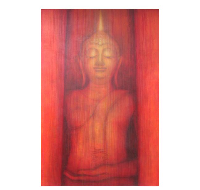 "Custom Buddha    48"" x 72"" on hand-built canvas ©KarenZilly    SOLD"