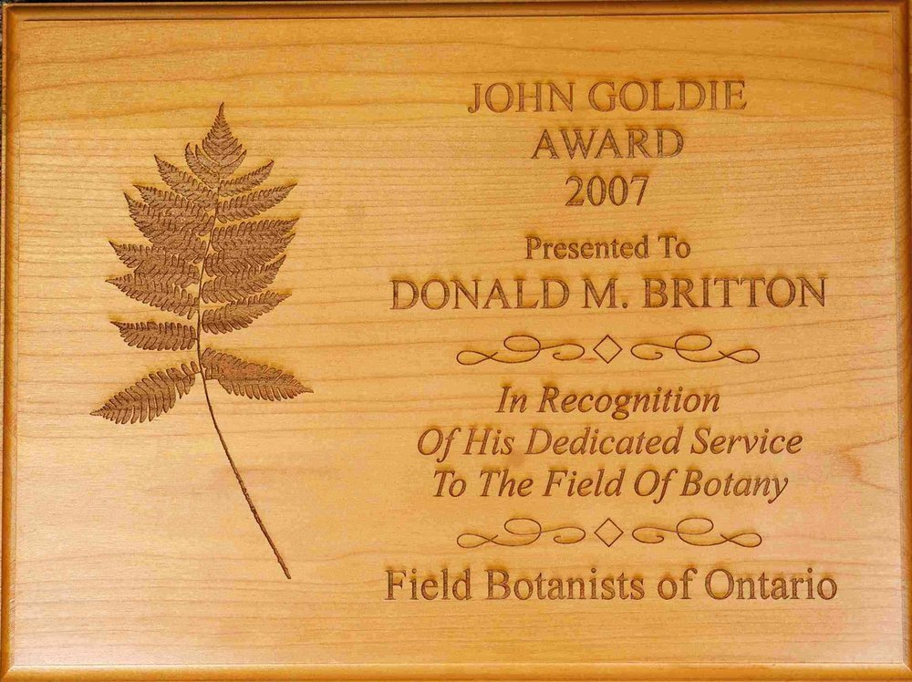 Donald Britton, recipient of FBO's first John Goldie Award in 2007.