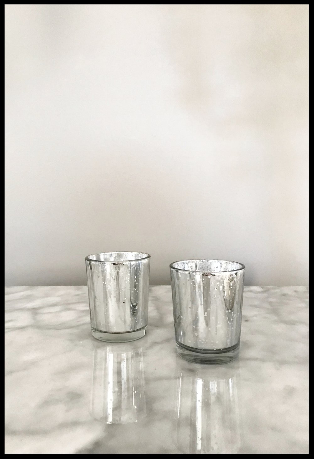 Silver Mercury Votive Holder