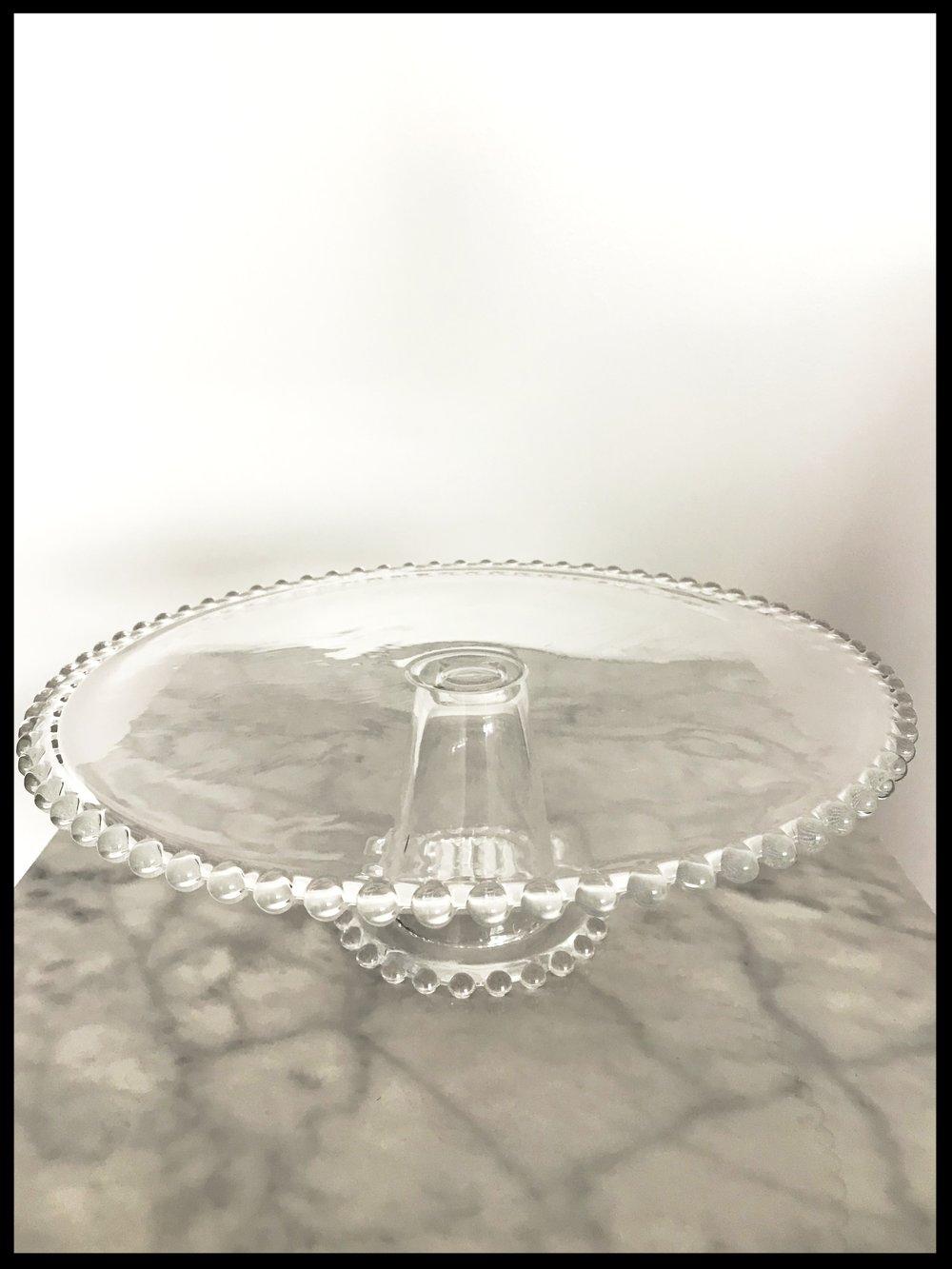 Round Pedestal Glass Cake Stand