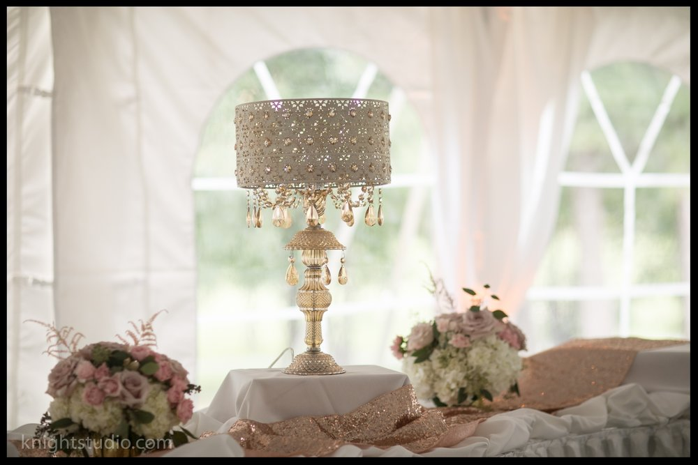Rose Gold Accent Lamp