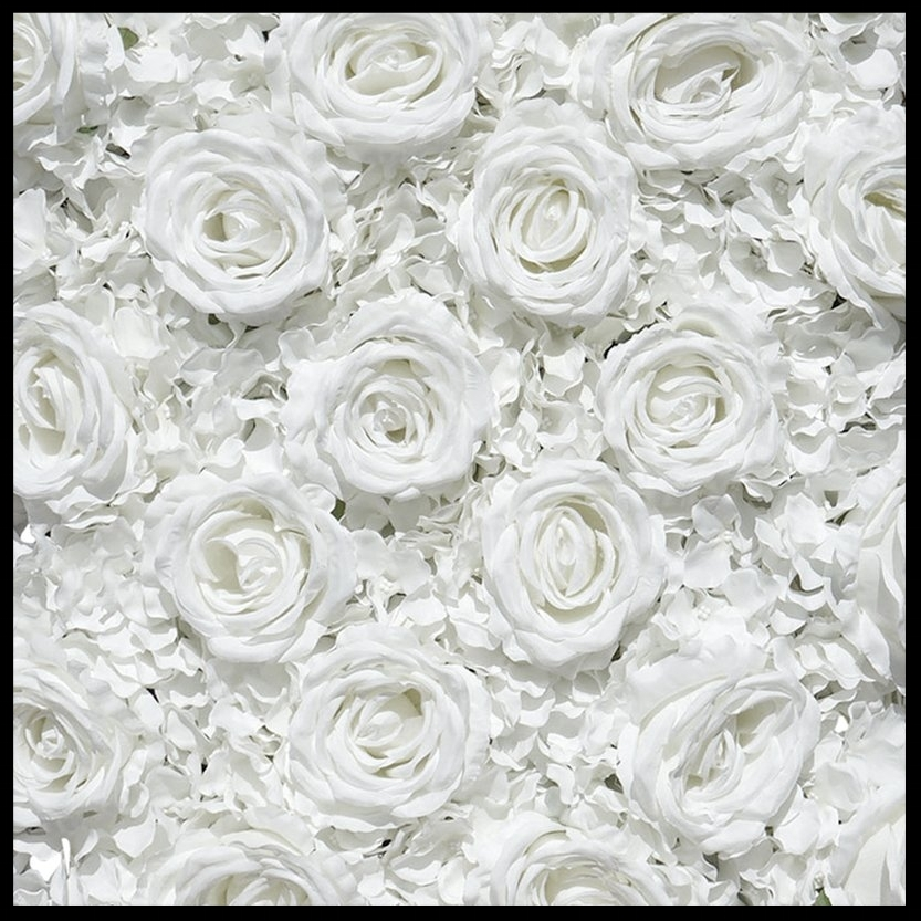 Wedding White- Premium Silk Roses, Peonies & Hydrangeas -